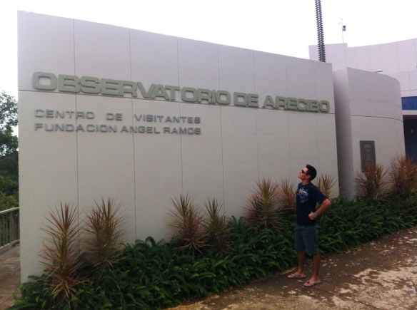 At the entrance of the museum and observatory.