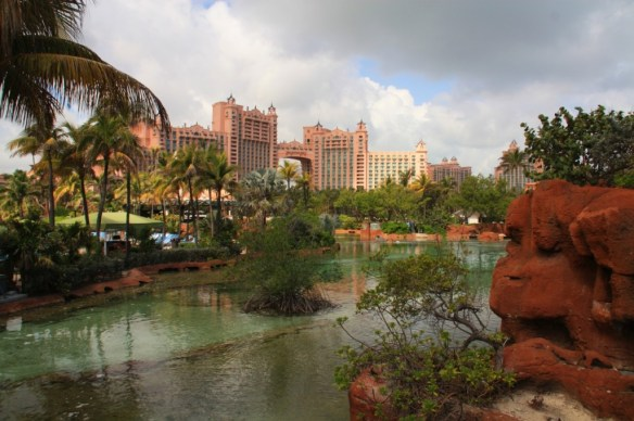There are beautiful views of the Atlantis architecture from all around the resort.