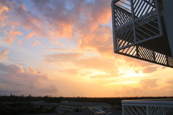 Sunset from our room at the Grand Lucayan...