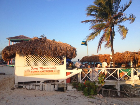 Tony Macaroni's Conch Experience is set right on the beach.