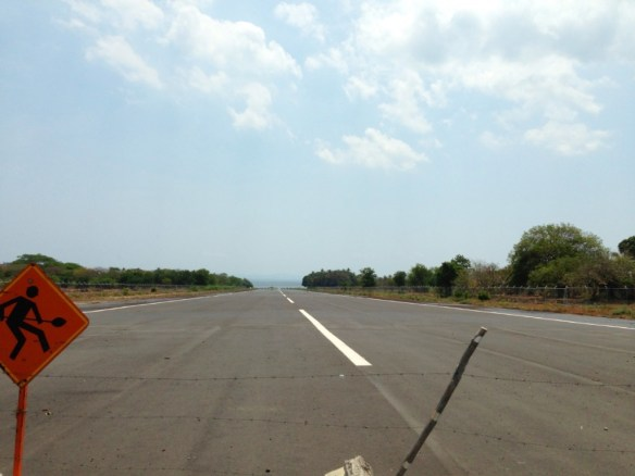 First time driving ACROSS an airstrip!