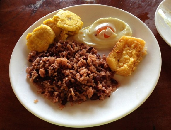 Yukka, fried cheese, rice and beans really hit the spot.