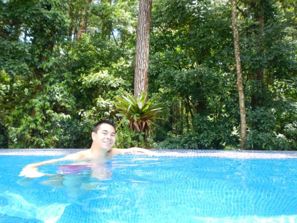 A quick dip in Arenal Observatory Lodge's pool after the hike!