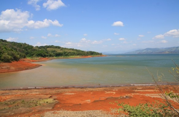 The red sands of Lake Arenal from another angle.