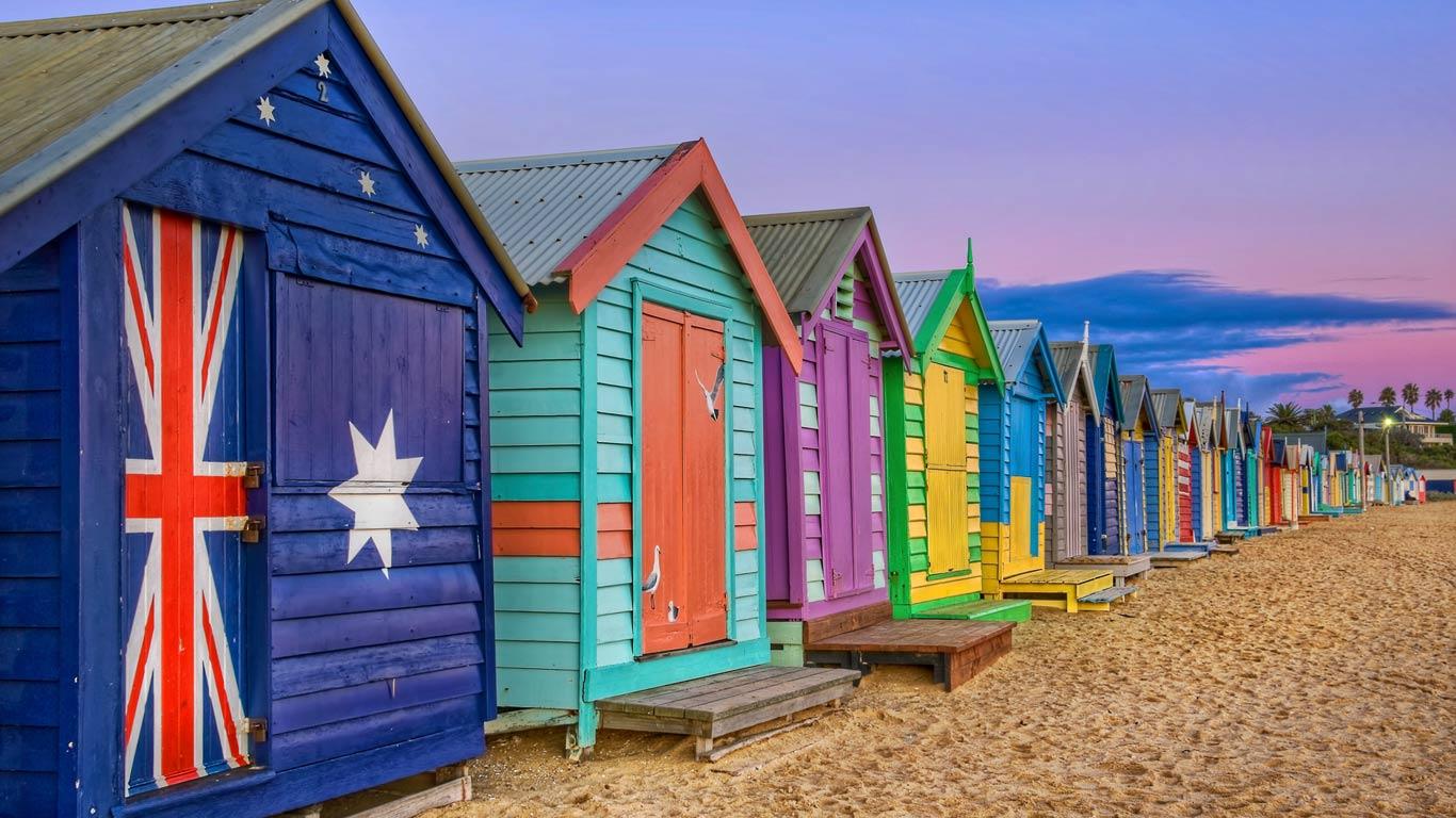 Mardi Gras Wallpaper For Iphone Brighton Beach En Australie Davidenoz
