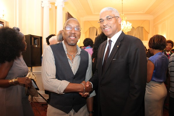 With High Commissioner Garvin Nicholas at his leaving do 2013