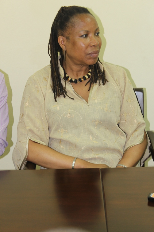 Claire Jackson CENUK Operations Manager and trade mission coordinator at JAMPRO meeting Jamaica