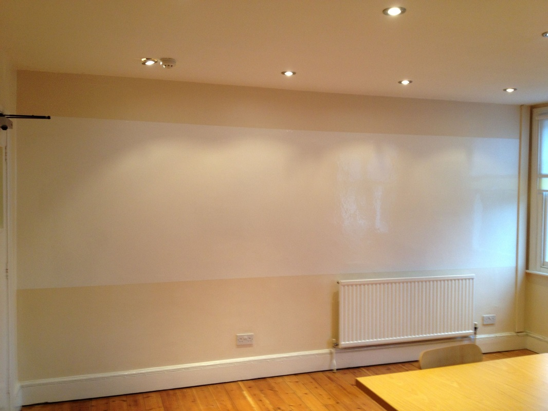How To Turn A Wall Into A Whiteboard Commercial Gallery David Green Decorating Limited