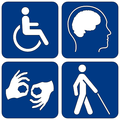 Picture of the four commonly discussed disabilities