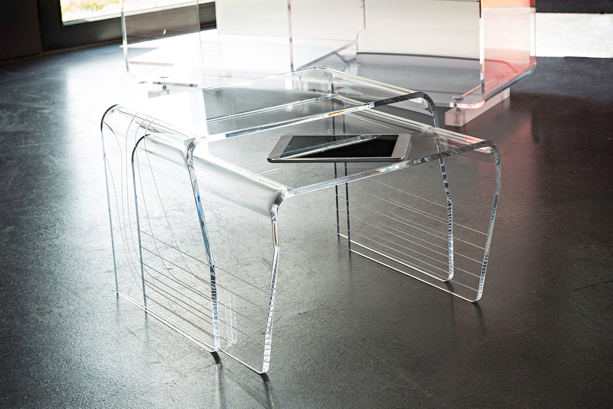 Table Plexiglas Transparent Table Basse Plexiglas