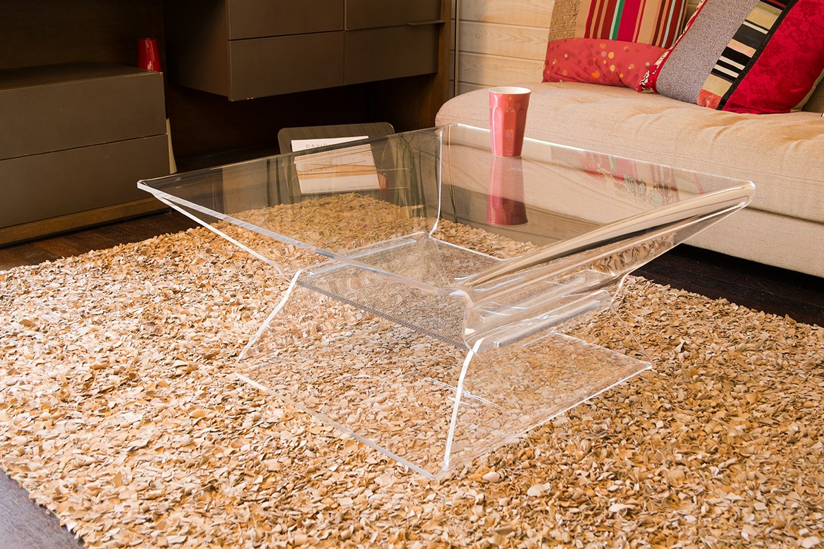 Protection Table Basse Table Basse Transparente Table Basse Burano Achat Vente