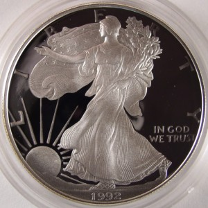 1992 Silver American Eagle 1 OZ .999 Fine Silver Dollar