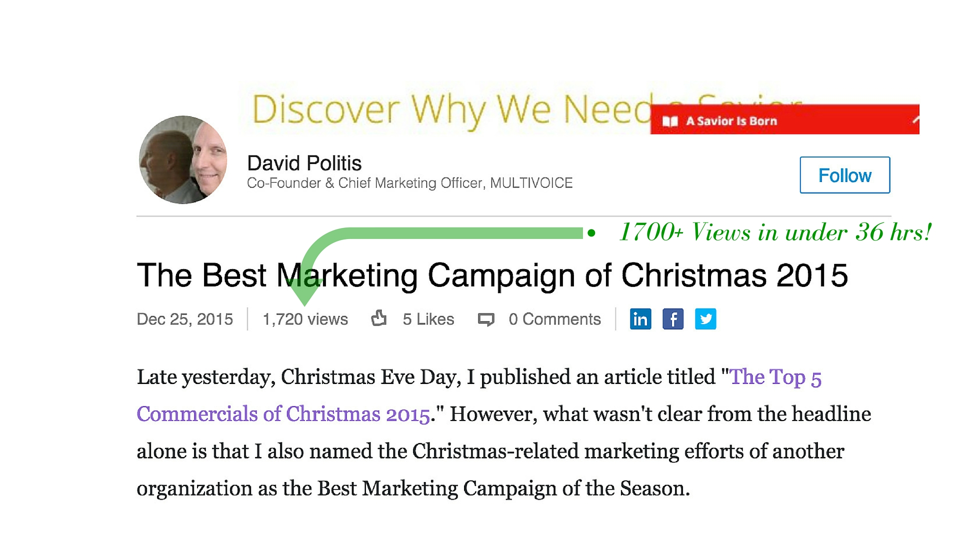 Best Christmas Commercials The David Politis Company The Top 5 Christmas Commercials Of 2015