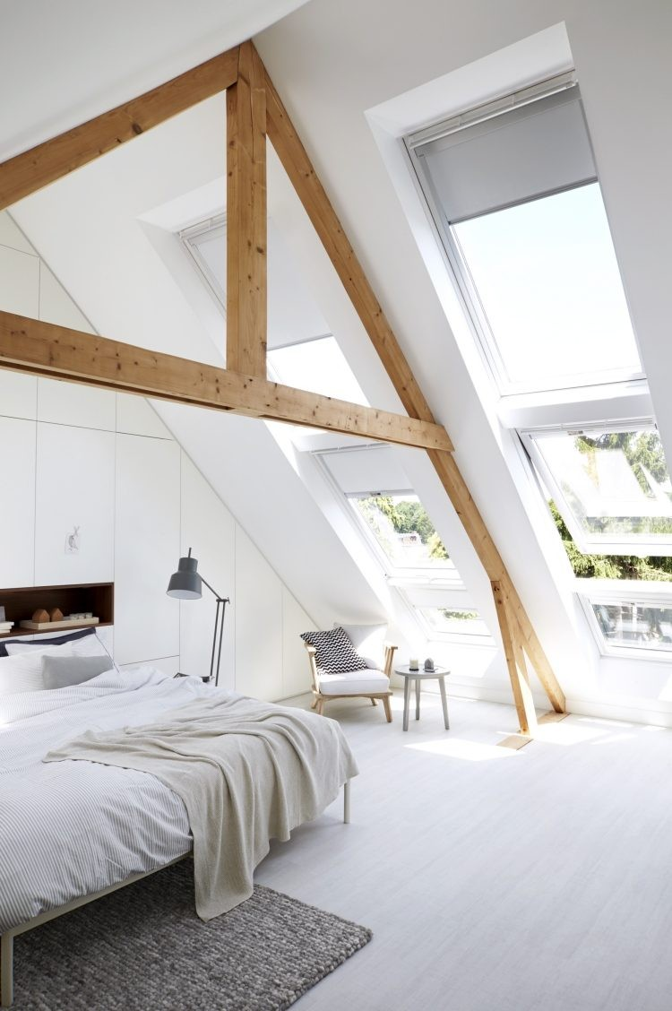 Chambre Idee Chambre Blanche Et Bois Deco Blanc Idee Newsindo Co Throughout
