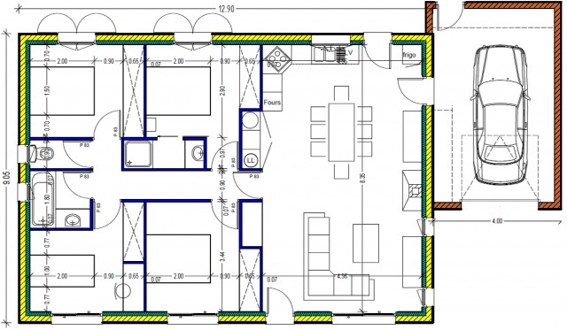 Plan De Maison 100m2 Brandd Co - davidreed - Plan Architecture Maison 100m2