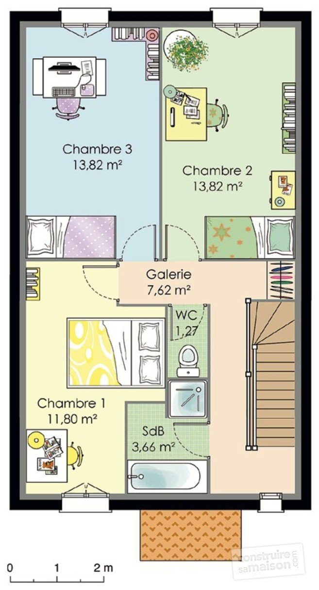 Site Pour Faire Des Plans De Maison Plan De Maison Etage A 100m2 Davidreed Co