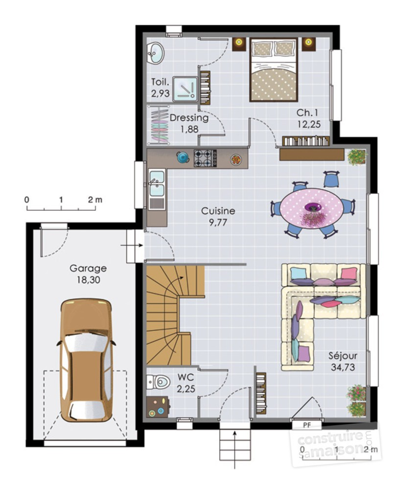 Faire Plan Maison 2d Plan Maison Deux Etages Davidreed Co
