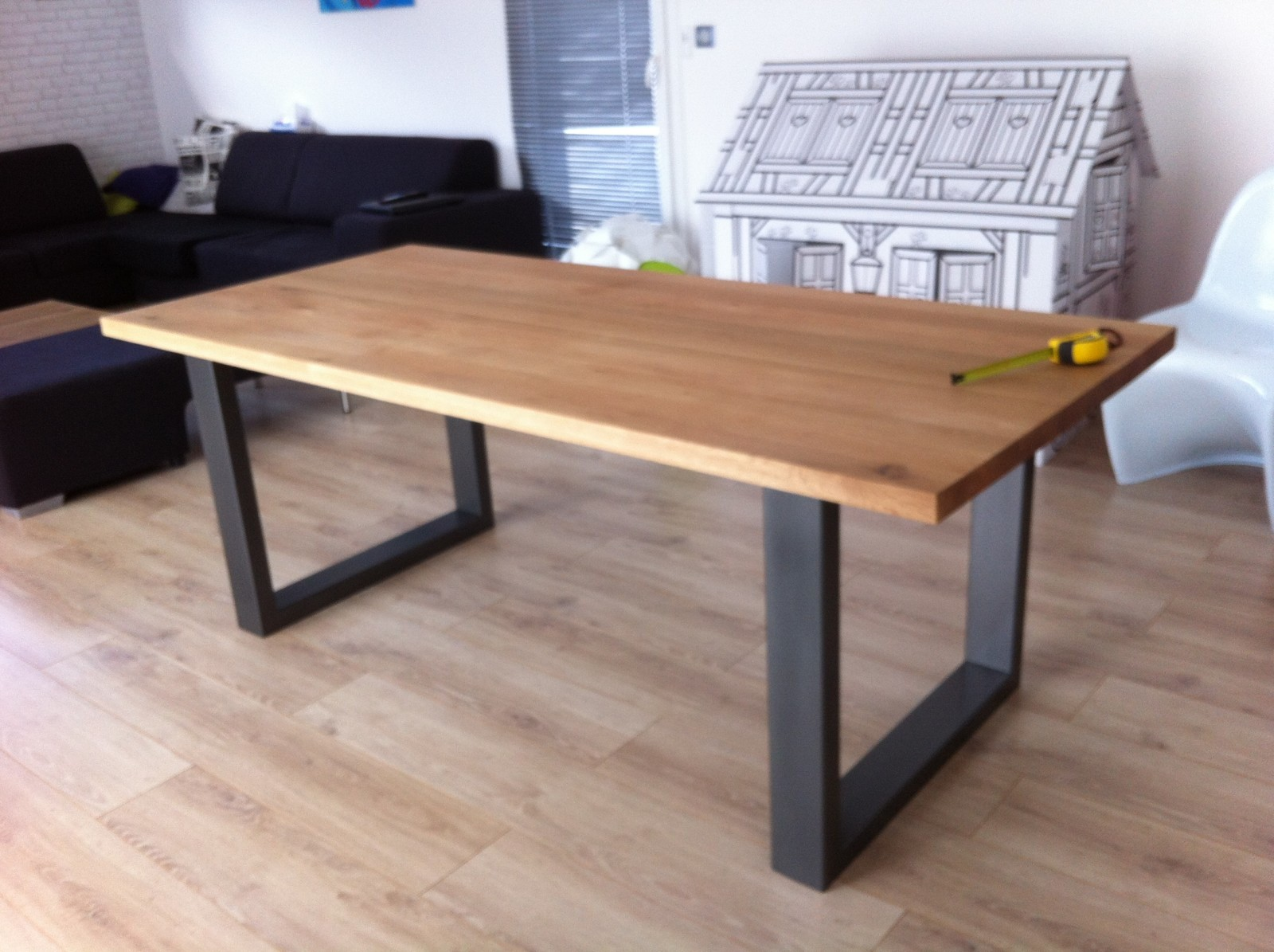 Table Pour Salon Plateau Pour Table A Manger En Bois Live Edge By Boleform Salon