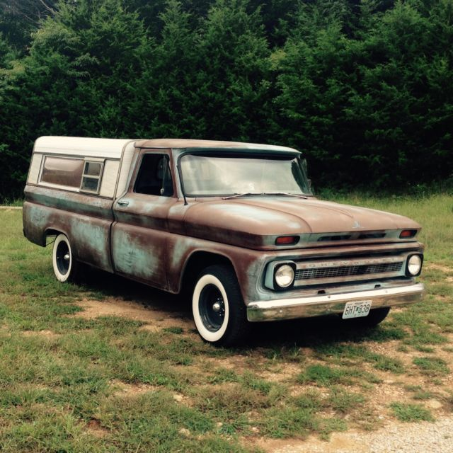 1966 Chevy C10 patina rat rod barn find vintage antique hot rod for