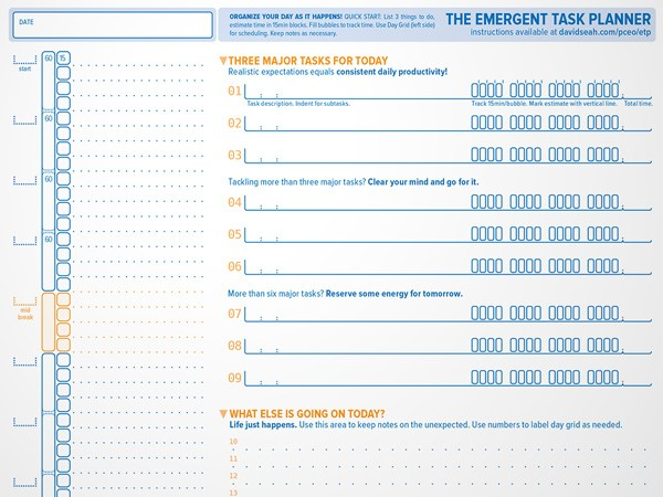 The Emergent Task Planner™ Dave Seah
