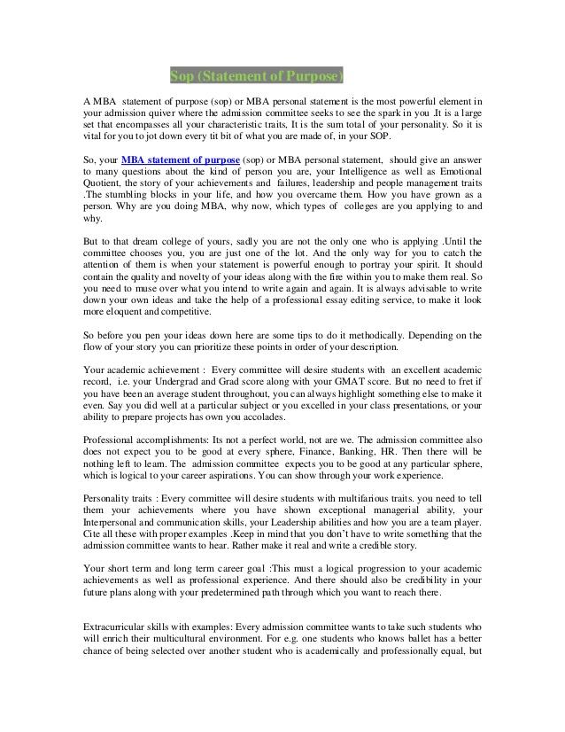 Personal Statement Of Purpose Professional Writing Company - personal statements