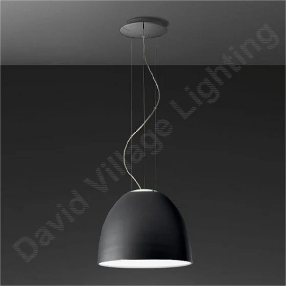 Artemide Nur Mini Artemide Nur Mini Suspension - Grey Anthracite