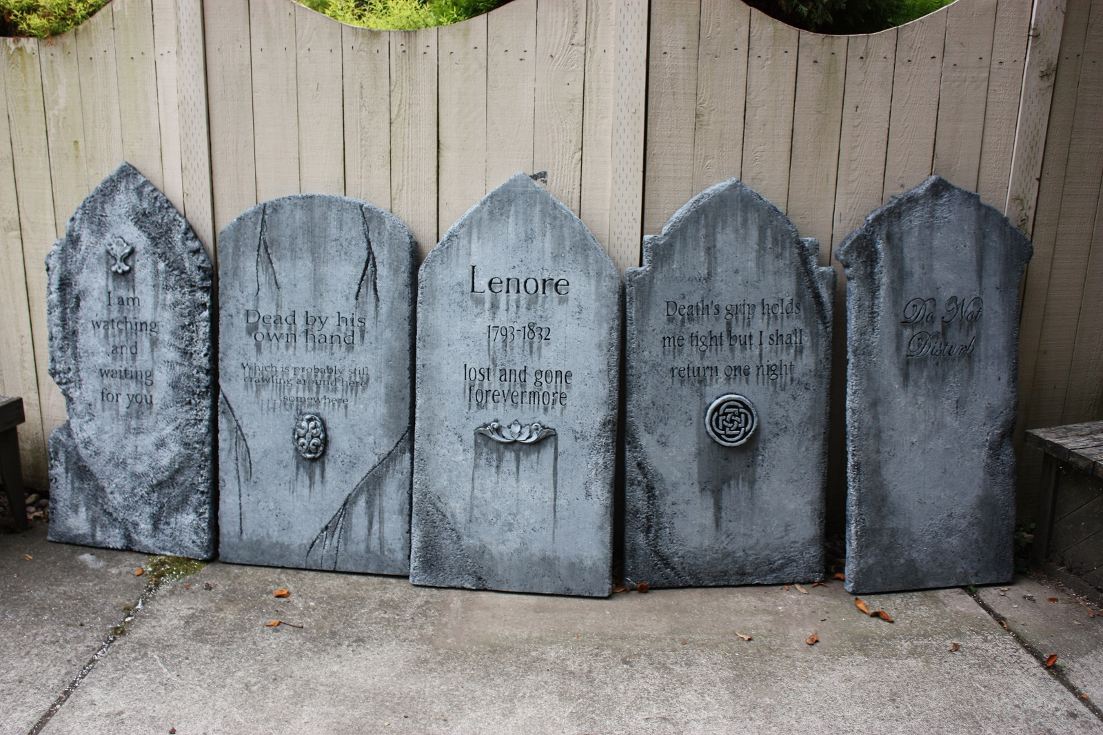 come learn to make your very own davis graveyard style tombstone you provide us with your epitaph and we will help you make your own tombstone - Davis Halloween Store