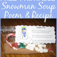 FREE Snowman Soup Poem Printable