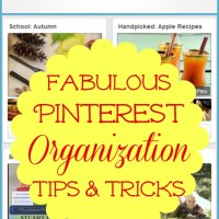 Pinterest Organization Tips and Tricks