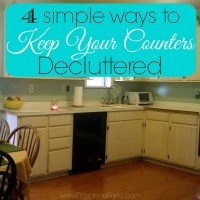 4 Simple Ways to Keep Your Counters Decluttered