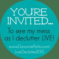 Davonne's Live Declutter
