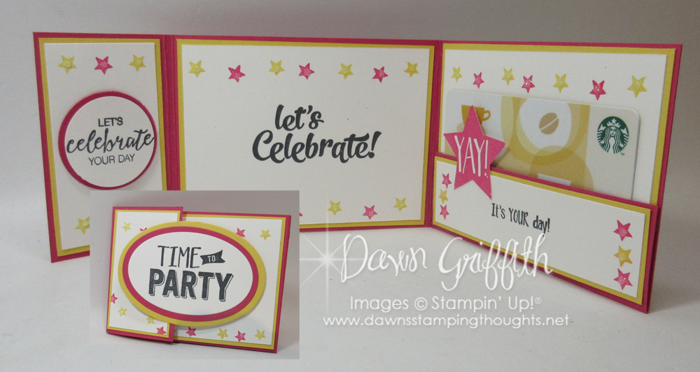 Tri-Fold Gift card holder video - Dawn\u0027s Stamping Thoughts - Tri Fold Card