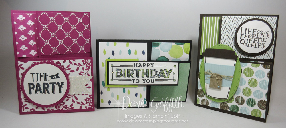 Split Closure Tri Fold card video - Dawn\u0027s Stamping Thoughts - Tri Fold Card