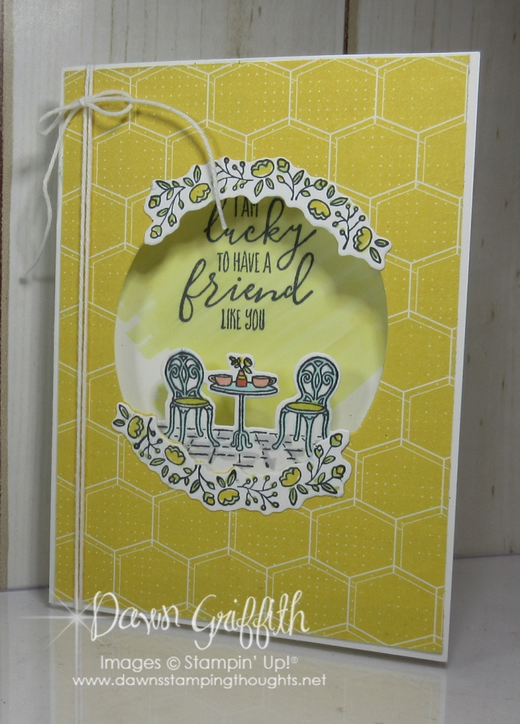 Charming Cafe\u0027 Tri Fold card video - Dawn\u0027s Stamping Thoughts - Tri Fold Card