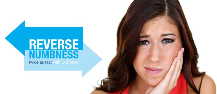 Introducing OraVerse® To Reduce Freezing Numbness In Half The Time.