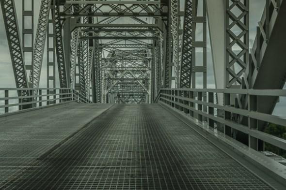 Lansing Bridge across the Mississippi