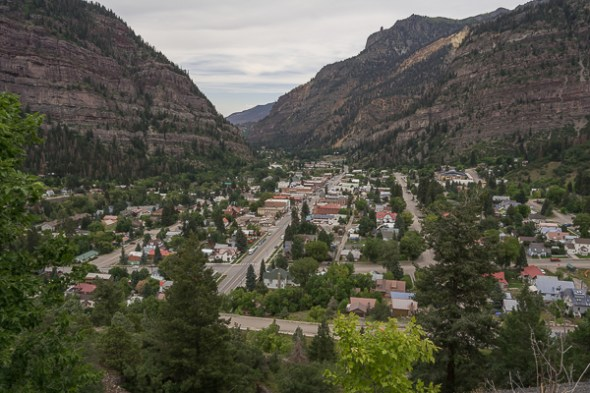 Ouray from Scenis Overlook