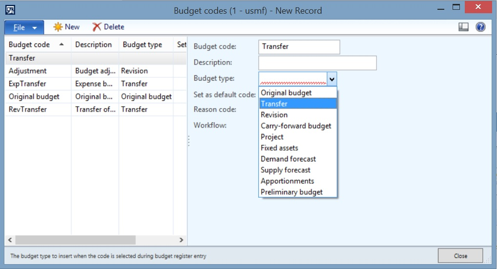 How to configure and create basic budgets in Dynamics AX 2012