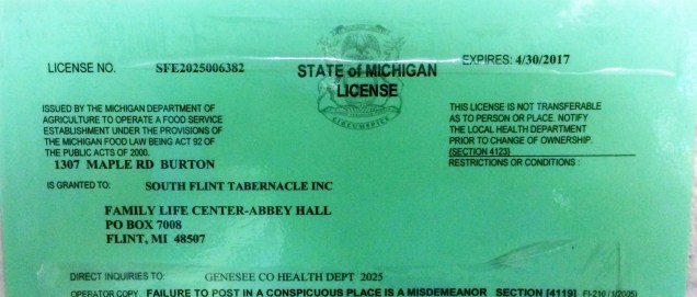 kitchen license