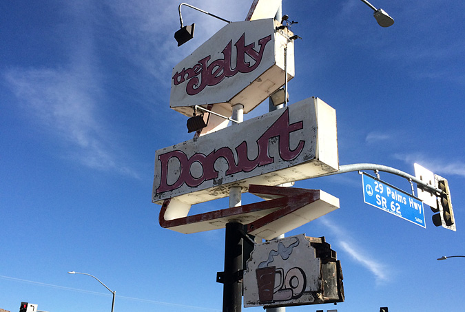Stop at The Jelly Donut on 29 Palms Hwy before heading into the western entrance of the park.