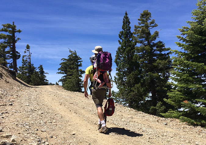 It took my knees a week to recover from carrying Emi up the mountain.