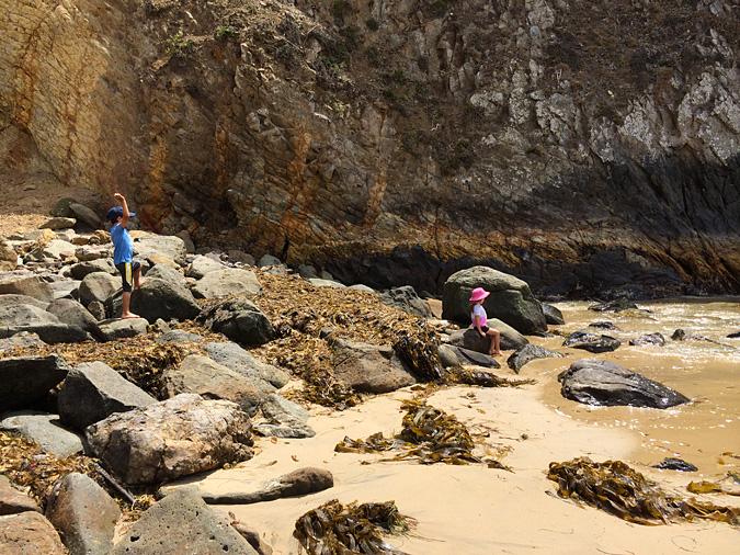 Crystal Cove State Park beach cliffs