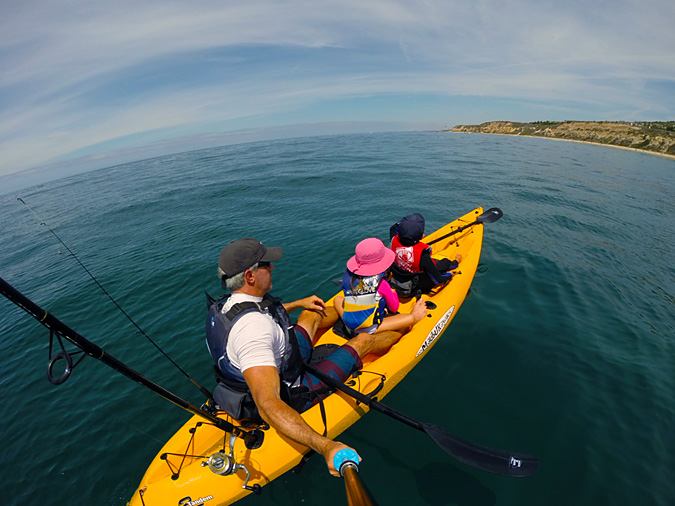 Kayaking off Crystal Cove State Park beach