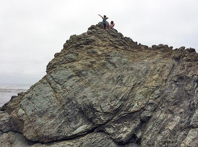 Exploring the Big Sur coast near Kirk Creek Campground