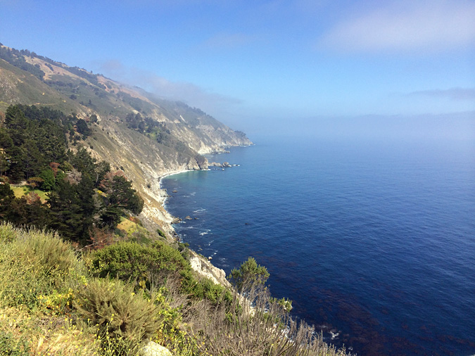 One of a hundred spots to pull over and look down the Big Sur coast