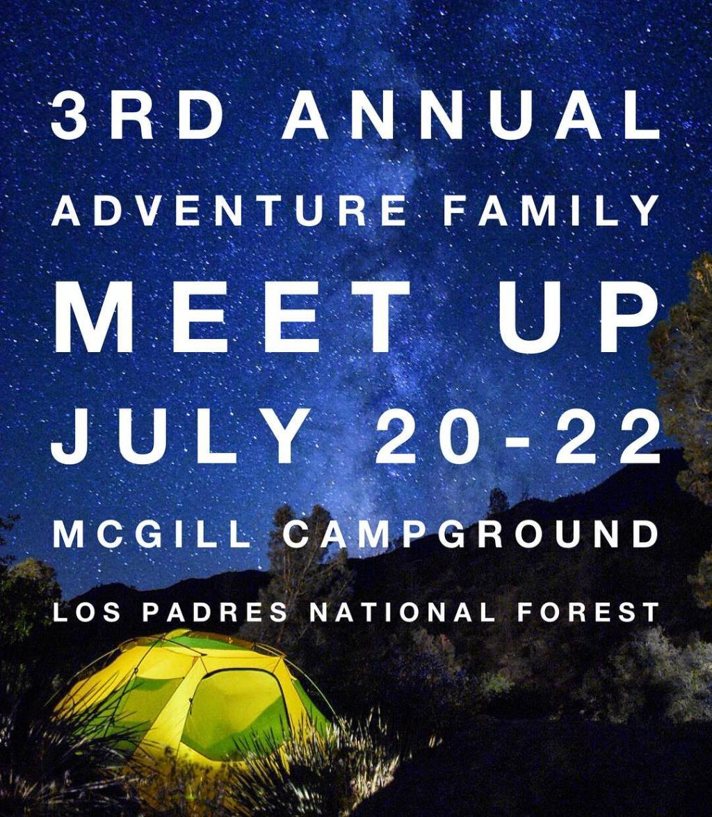3nd Annual Adventure Family Meet-up — July 20-22, 2018