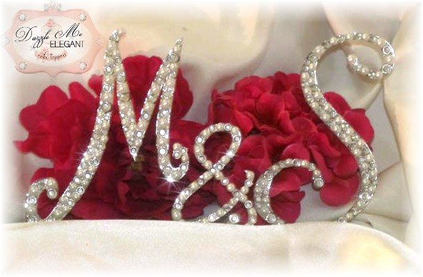 monogram cake topper custom design