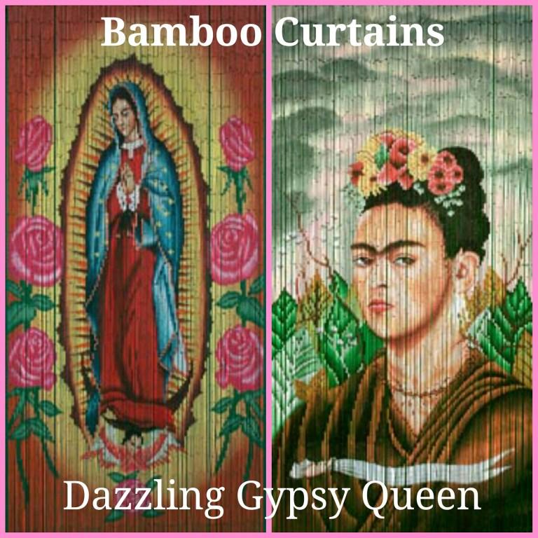 Bamboe vliegengordijn - Frida Kahlo - Guadeloupe @ Dazzling Gypsy Queen