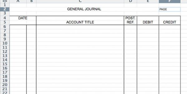 Accounting Journal Entry Template Accounting Journal Template