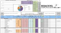 Home Improvement Spreadsheet Home Renovation Budget ...